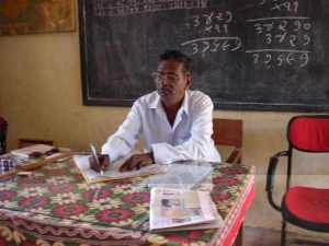 Head teacher at Tavdi School. Krusi Vidhaya Mandir, Tavdi