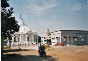 Temple of Rama and Shiva with the Community Hall