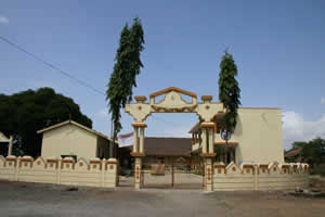 The gate to the school