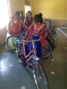 Bicycle Donation to Primary School children from Dahyabhai B Patel